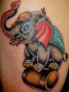 Traditional Elephant Tattoo Design