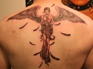 Tribal Angel Tattoos for Men
