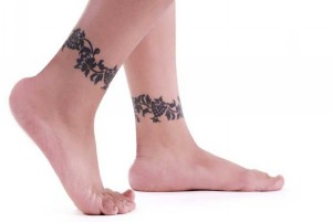 Tribal Ankle Band Tattoos