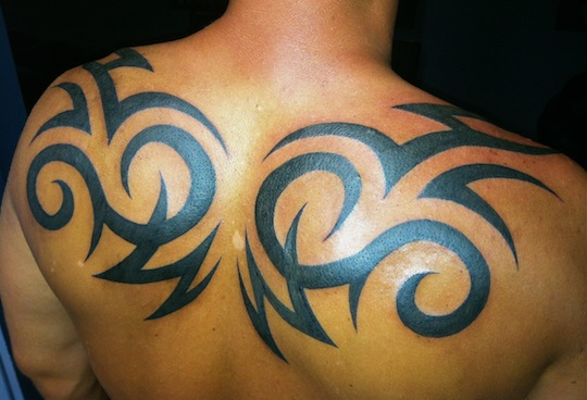 28 Awesome Tribal Back Tattoos