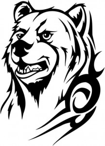 Tribal Bear Face Tattoo
