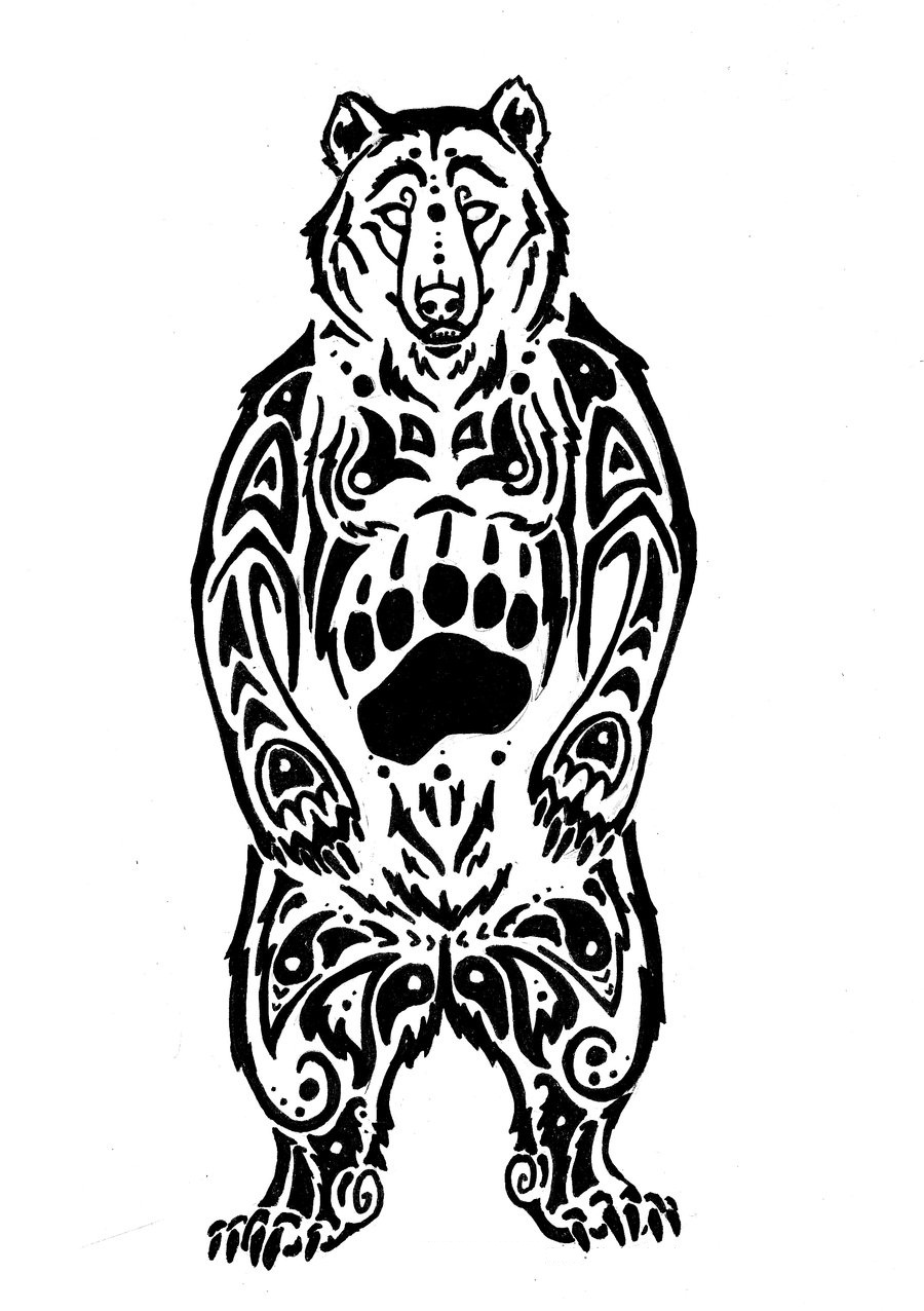 13 beautiful tribal bear tattoo only tribal for Male wallpaper designs