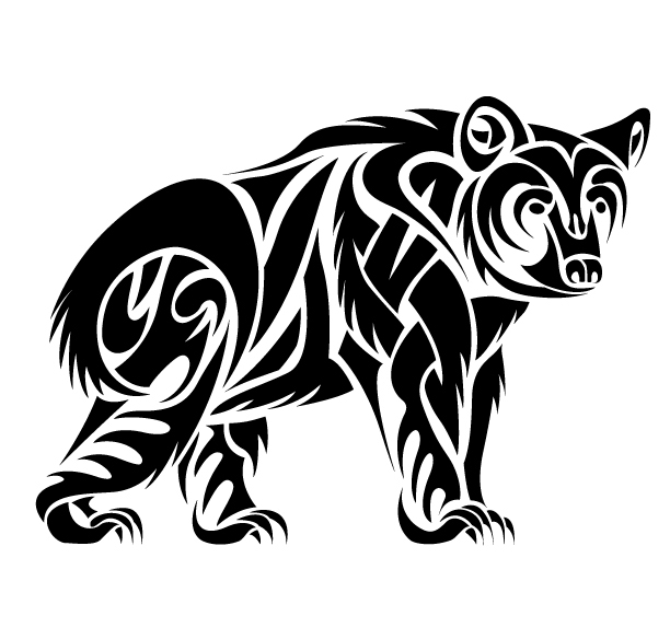 13 beautiful tribal bear tattoo only tribal. Black Bedroom Furniture Sets. Home Design Ideas