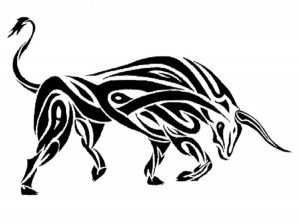 Tribal Bull Tattoo Designs
