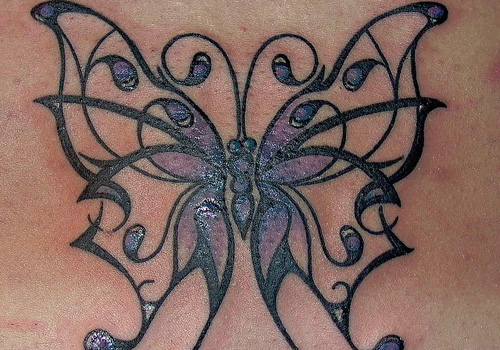 8535a64cc485f 25 Awesome Tribal Butterfly Tattoo