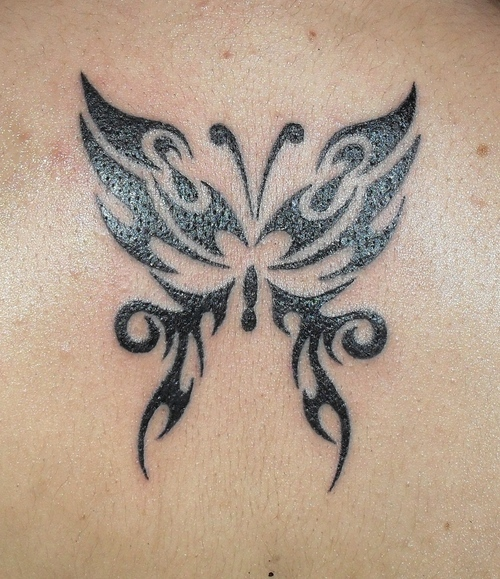 99bd9e095 25 Awesome Tribal Butterfly Tattoo
