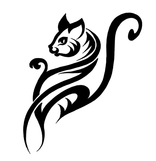 10 Awesome Tribal Cat Tattoos