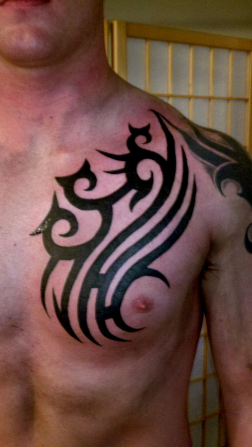 25 beautiful tribal chest tattoos only tribal. Black Bedroom Furniture Sets. Home Design Ideas