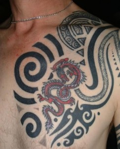 Tribal Chest Tattoos for Guys