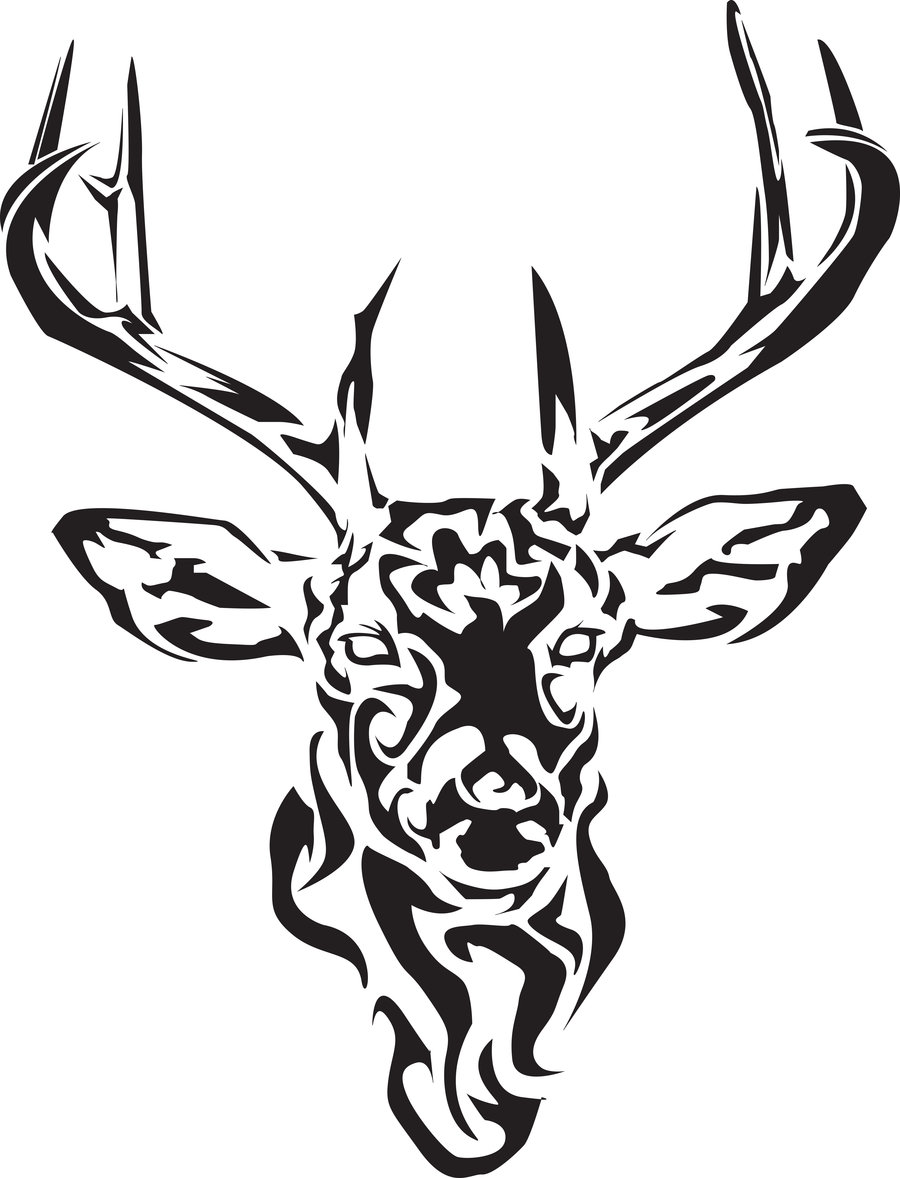 12 stunning tribal deer tattoos only tribal for Images of tribal tattoos