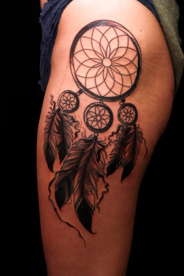 Hawaiian Dream Catcher 40 Stunning Tribal Dreamcatcher Tattoos Only Tribal 22