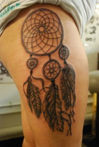 Tribal Dreamcatcher Tattoos