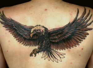 Tribal Eagle Tattoo Back