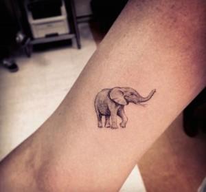 Tribal Elephant Tattoo Small