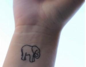 Tribal Elephant Tattoo on Wrist