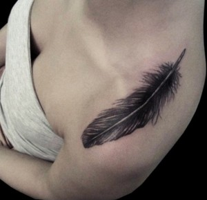 Tribal Feather Tattoo for Women