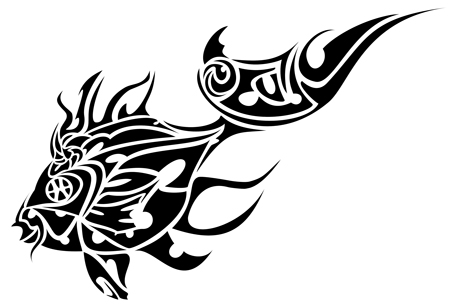 tribal fish tattoo only tribal. Black Bedroom Furniture Sets. Home Design Ideas