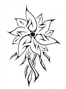 Tribal Flower Tattoo Designs