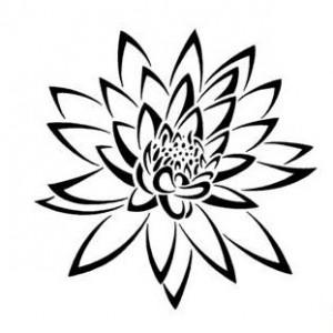 Tribal Flower Tattoos Designs