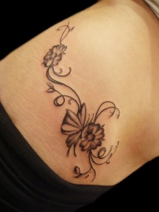 Tribal Flower Tattoos for Women