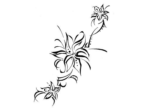 6574f017c Tribal Flower Tattoos. Tribal Flower Tattoos. Tribal Flowers Tattoo Designs