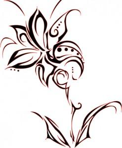 Tribal Flowers Tattoo Designs