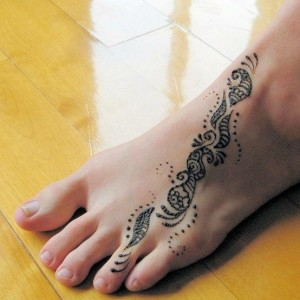 Tribal Foot Tattoos for Women