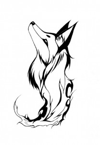 Tribal Fox Head Tattoo