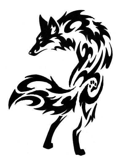 Tribal 9 Tailed Fox Tattoo