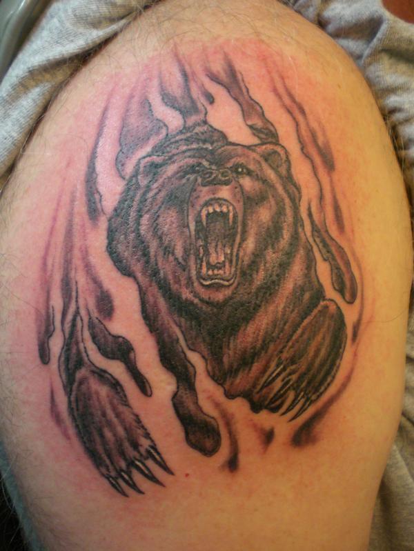 13 Beautiful Tribal Bear Tattoo | Only Tribal