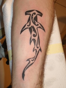 Tribal Hammerhead Shark Tattoo