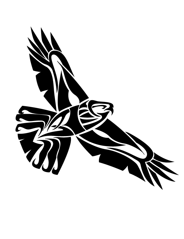 tribal hawk tattoo only tribal. Black Bedroom Furniture Sets. Home Design Ideas