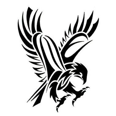 tribal hawk tattoo only tribal