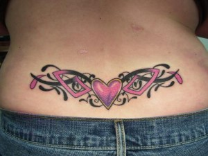 Tribal Heart Lower Back Tattoos