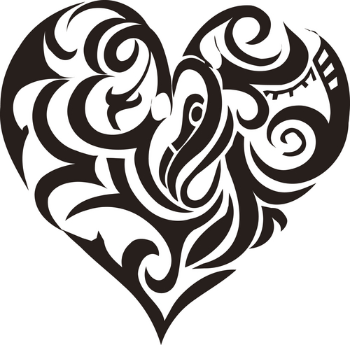 20 beautiful tribal heart tattoos rh onlytribal com tribal heart tattoo designs free tribal heart tattoo designs free