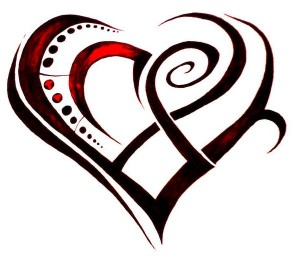 Tribal Heart Tattoos Designs