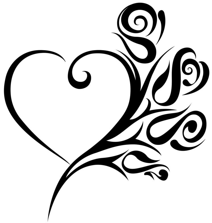 Line Art Love Heart : Beautiful tribal heart tattoos only