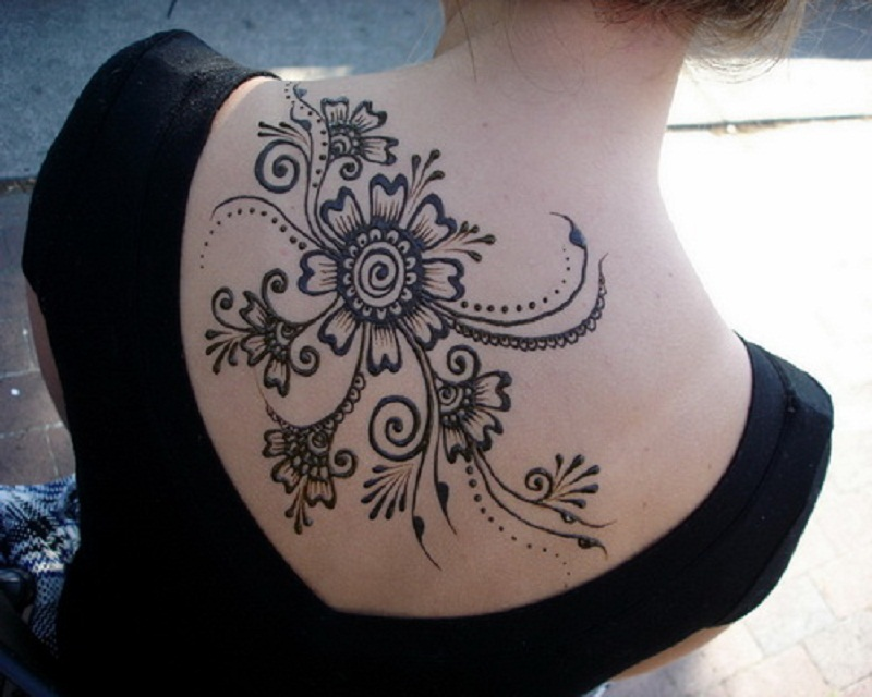 Mehndi Tattoo Designs For Upper Arms : Lovely tribal henna tattoo only