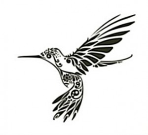 Tribal Hummingbird Tattoo