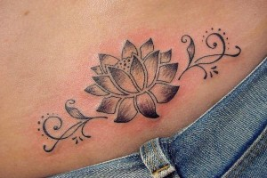 Tribal Lotus Flower Tattoos