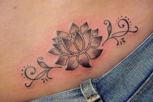 Tribal Lotus Flower Tattoos