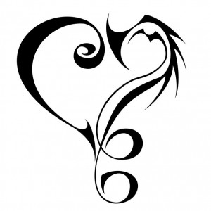 Tribal Love Heart Tattoos
