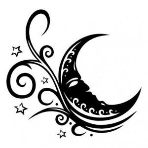 Tribal Moon Tattoo Designs