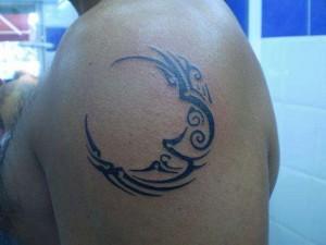 Tribal Moon Tattoos for Men