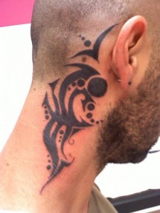 Tribal Neck Tattoos Designs