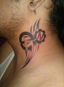 Tribal Neck Tattoos for Guys