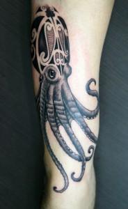 Tribal Octopus Tattoos