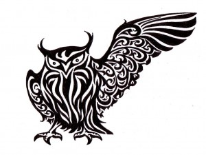 Tribal Owl Tattoo Designs