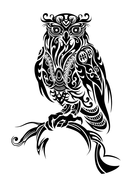 11 beautiful tribal owl tattoo only tribal for Images of tribal tattoos