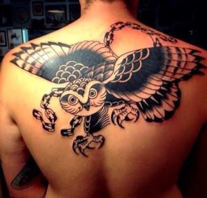Tribal Owl Tattoo for Men